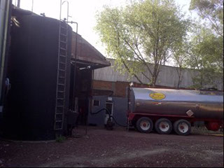 Almacen y embarque de asfalto líquido